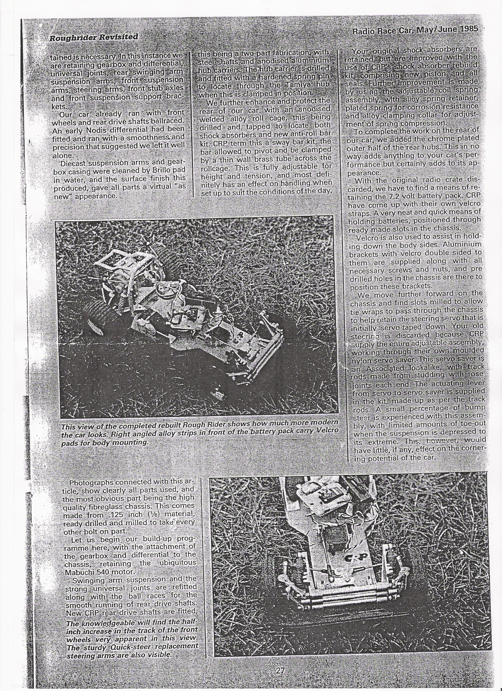 Radio Race Car's May/June 1985 'Rough Rider Revisited' article