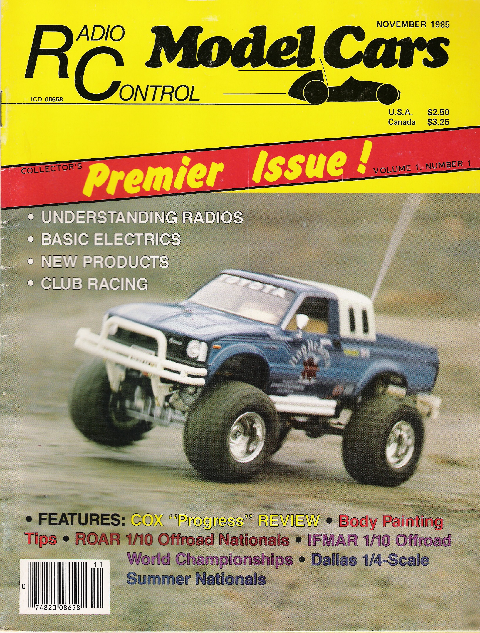 Radio Control Model Cars' November 1985 cover.