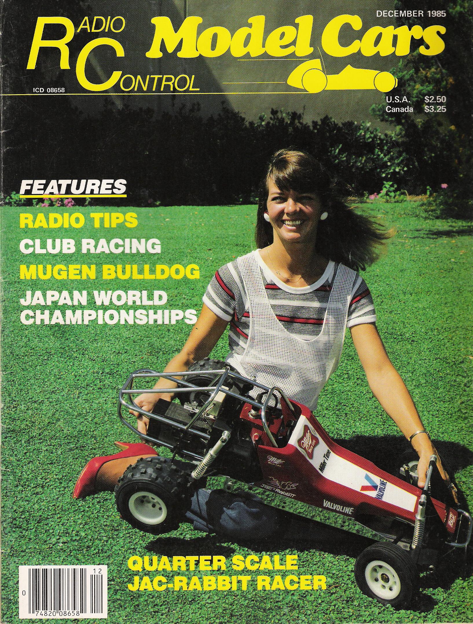Radio Control Model Cars' December 1985 cover.
